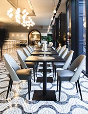batali bastianichs new restaurant la sirena featured in the new york times bluemountain capital management office tpg architecture